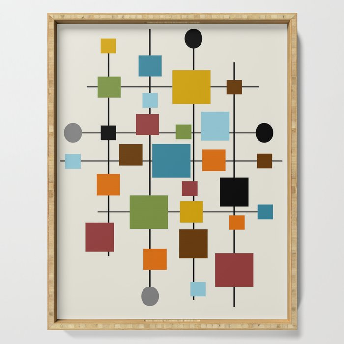 Mid-Century Modern Art 1.3 Serving Tray
