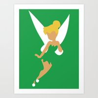 tinker bell Art Prints featuring Tinker Bell by Adrian Mentus