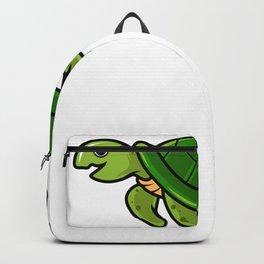 Cartoon Sea Turtle Illustration Backpack