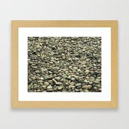 garden of stones Framed Art Print