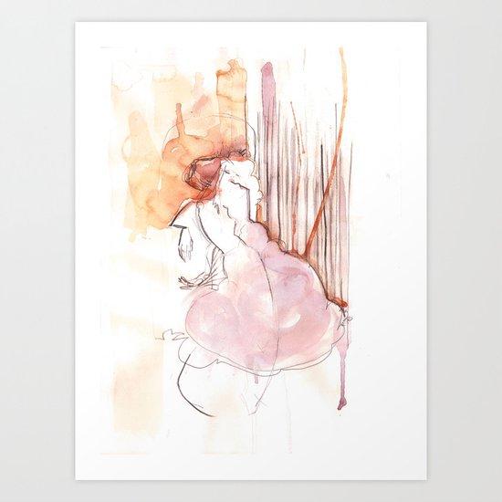 Cloud Mouth: Orange and Magenta Art Print