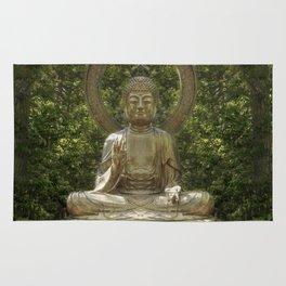 A Buddha in the Japanese Tea Garden, Golden Gate Park, San Francisco, California Rug