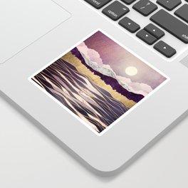 Lunar Waves Sticker
