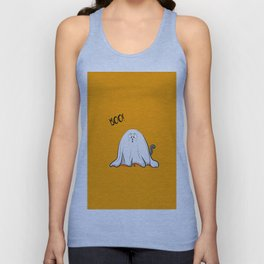 Ghost cat BOO! Unisex Tank Top