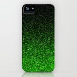 Green & Black Glitter Gradient iPhone Case
