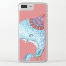 Madeleine, la Baleine Clear iPhone Case