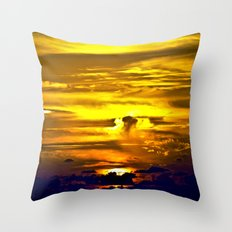 Fire sunset Throw Pillow