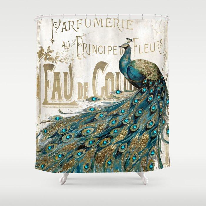 Peacock Jewels Duschvorhang