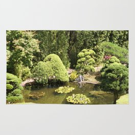 Japanese Tea Garden Pond Rug
