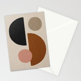 Abstract balance shapes 5 Stationery Cards