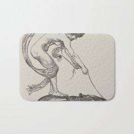 Nude Classical Woman Riding a Beetle 1895-1896 Bath Mat
