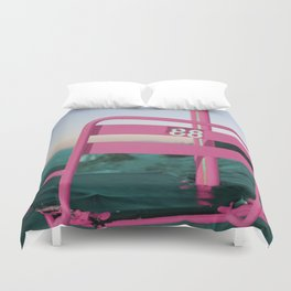 Pop Art 80's Chair Lift Duvet Cover