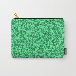 Minty Vines Carry-All Pouch