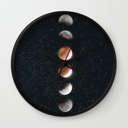 Phases of the Moon II Wall Clock