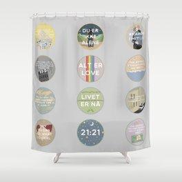 EVAK: A MINIMALIST LOVE STORY VOL. II Shower Curtain
