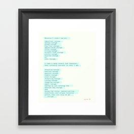 I am enough... Framed Art Print