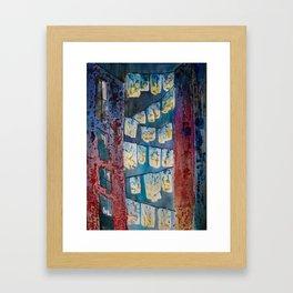 Grungy Laundry Line Jukebox Framed Art Print