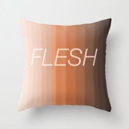 Flesh Throw Pillow