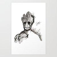 Groot Art Print