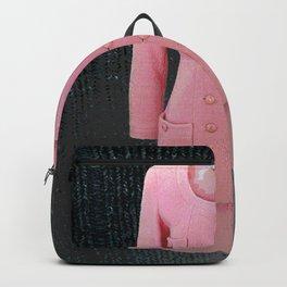 vintage suit pink fashion Backpack