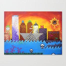 8 Bit Milwaukee Canvas Print