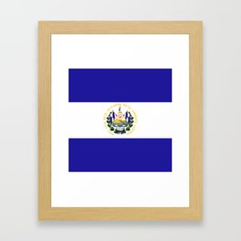 El Salvador flag emblem Framed Art Print