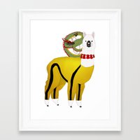 alpaca Framed Art Prints featuring Alpaca by Mariia Komatsu