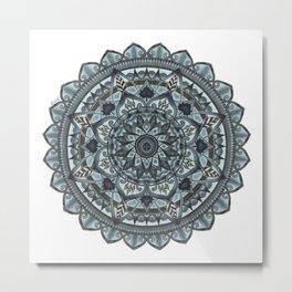 Geo-Circle. Grey. White Background. Metal Print