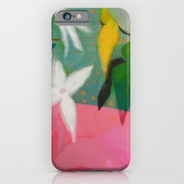 floral pink summer iPhone Case