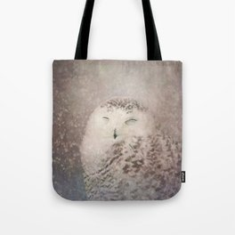 Snowy Owl in the snow Tote Bag