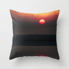 Canton Beach NSW Bushfire  Throw Pillow