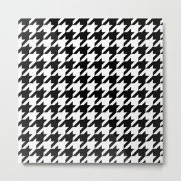 Black Houndstooth - Baby Stimulation Pattern Metal Print