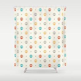Pattern Skulls Color Shower Curtain