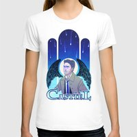 castiel T-shirts featuring Castiel by enerjax