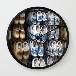 Folklore clogs of Volendam, Holland Wall Clock