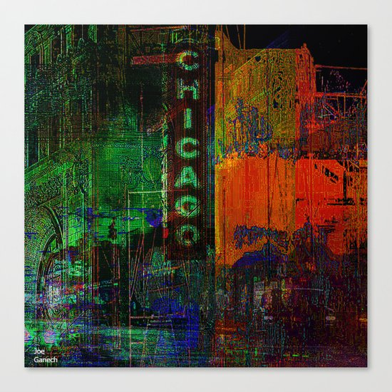 A night in Chicago Canvas Print