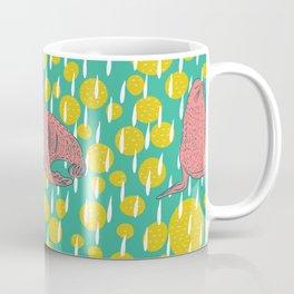 Coral Seals on Teal Coffee Mug