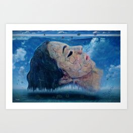 Ice cold water Art Print