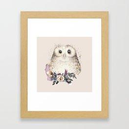 Boho Illustration- Be Wise Little Owl Framed Art Print