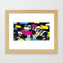 CMYKaBOOM! Framed Art Print