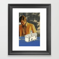 The explanation of lawn mower maintenance in the presence of unforeseen danger. Part 2 Framed Art Print