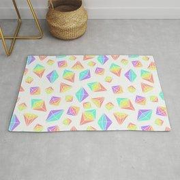 Pastel Rainbow Crystals Pattern Rug