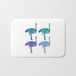 Ostriches are the new flamingos Bath Mat