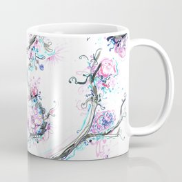 lavendar and pink flowers and tree Coffee Mug