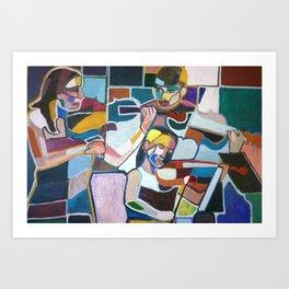 Series of Musicians nº9 Art Print