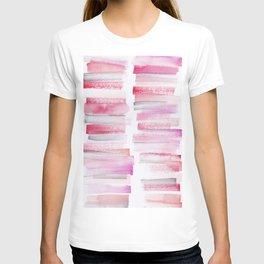 16 | 181101 Watercolour Palette Abstract Art | Lines | Stripes | T-shirt