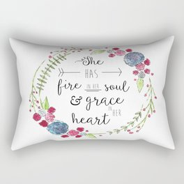 She Has Fire in Her Soul and Grace in Her Heart Rectangular Pillow