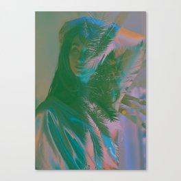 Pink Palms Canvas Print