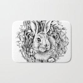 "Spring rabbit. From the series ""Seasons"" Bath Mat"