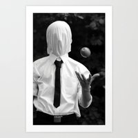 magritte Art Prints featuring Magritte by George Riley